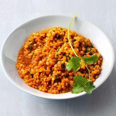 Dieses Dal ist ein indisches Rotes Linsen-Gericht und kommt schön würzig mit Ingwer- und Gewürzaromen daher.