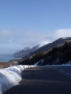 Cape Breton Highlands National Park in the winter.