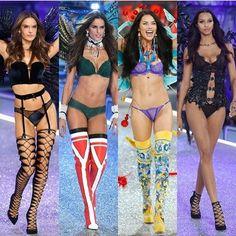 Brasil is in the house! A gente manda nessa @victoriassecret já faz um tempo, né?! Ontem teve @alessandraambrosio @adrianalima @iza_goulart e @laisribeiro - todas #angels ! #vs #victoriassecrets #brazil #brazilianbombshells #sexy #body #fit #brasileiras By Gui.