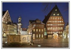 Market square Hildesheim (the rest of the city is bland because it was destroyed during WW2)