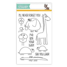 """Simon Says Stamp clear stamps are high quality photopolymer and made in the USA. The stamp set measures 4 inches x inches. This stamp set coordinates with """"Stacking Animals"""" wafer dies Thanks Teacher, Ill Never Forget You, Simon Says Stamp Blog, Animal Cards, Tampons, Digi Stamps, Reasons To Smile, Words Of Encouragement, Clear Stamps"""