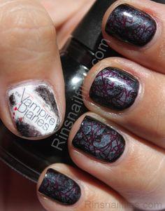 Team damon unhas school nails manicure and fun nails 32 the vampire diaries nail art ideas prinsesfo Gallery
