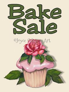 Printable Bake Sale Sign Artwork of by ToadstoolPrintables on Etsy