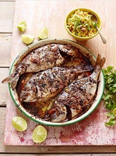 Jerk Fish by Jamie Oliver Oven Dishes, Fish Dishes, Jamie Oliver, Fish Recipes, Seafood Recipes, Grilling Recipes, Barbecue Recipes, Chicken Recipes, Dinner Recipes