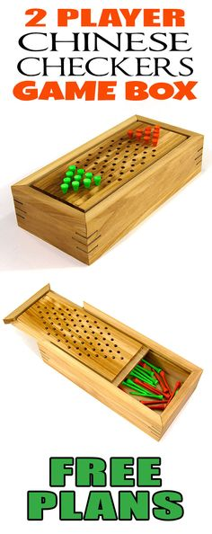 How To Make A 2 Player Chinese Checkers Game Box – Jays Custom Creations Board Game Box, Fun Board Games, Games Box, Diy Games, Party Games, Wooden Board Games, Wood Games, Jays Custom Creations, Woodworking Toys