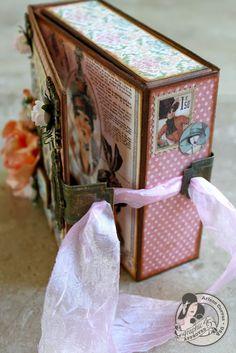 Vintage Glam Altered Art Box and Mini Album - A Ladies' Diary
