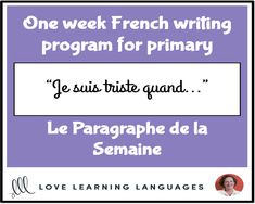 ✐ Le Paragraphe de la Semaine - Primary French writing program ✐This week long French writing program will have your students writing every day. This writing program includes five pre-writing and writing activities for Monday t. Pre Writing, Writing Workshop, Kids Writing, Writing Activities, Creative Writing, Writing Programs, Writing Assignments, College Application Essay Examples, College Admission Essay