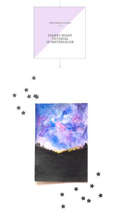 The blending of colors in watercolor makes my heart flutter.When one color seeps into the other, it's truly magic that's created.This beautiful starry night tutorial in watercolor will help you learn the beautiful wet on wet technique.The colors are beautiful, the effect is magical and the process is simple! A typical starry night will not…