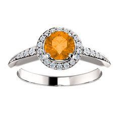 10kt White Gold 5.5mm Center Round Garnet and 26 Accent Genuine Diamonds Engagement Ring...(ST122699:162:P).! Price: $549.99 #diamonds #ring #gold #garnetring #fashionring #jewelry