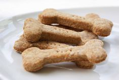 Teething Biscuits {Um...I'm not gonna make them dog bone shaped, but the recipe seems like it'd be a good one.}