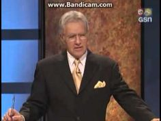 ▶ Ken Jennings' hilarious moment on Jeopardy in 2004. This never gets old.