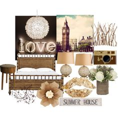 A home decor collage from July 2014 featuring california king headboard, hanging chain lights and white table lamp. California King Headboard, White Table Lamp, Lights, Inspired, Wood, Polyvore, House, Inspiration, Collection