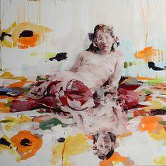 J.W.I. Twice, 2014   Oil on Canvas   36 x 36 Inches Alex Kanevsky