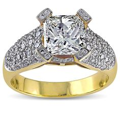 <li><a href='http://www.overstock.com/downloads/pdf/2010_RingSizing.pdf'><span class=links>Click here for Ring Sizing Chart</span></a><li>Sparkling diamond engagement ring<li>18k yellow gold bridal jewelry<li>Gift box included