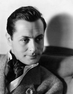 """Robert Montgomery ~ I love to watch his movies. His daughter was actress Elizabeth Montgomery of """"Bewitched"""", she played the Samantha Stevens."""