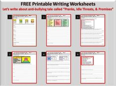 Printables Bullying Worksheets Middle School bullying worksheets and on pinterest printable anti worksheet write about pranks idle threats promises
