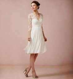Rich, trendy, stylish and stunning ankle casual short wedding dresses with sleeves! Shop now for the latest styles of Casual Short Wedding Dresses With Wedding Dress Chiffon, Wedding Gowns, Lace Chiffon, Bridal Gowns, 2nd Marriage Wedding Dress, Bhldn Wedding, Wedding Attire, Courthouse Wedding Dress, Civil Wedding