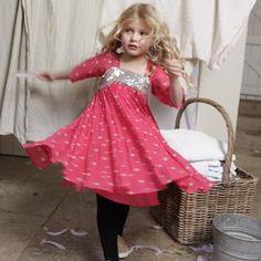 ilovegorgeous Funky Sparkle Star Dress - Hot Pink | MonkeyMcCoy