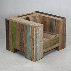 Scrapwood rustic garden chair