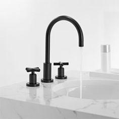 Fresh Bathroom Decorating Ideas Beautiful Black Fixtures - Black bathroom faucet fixtures