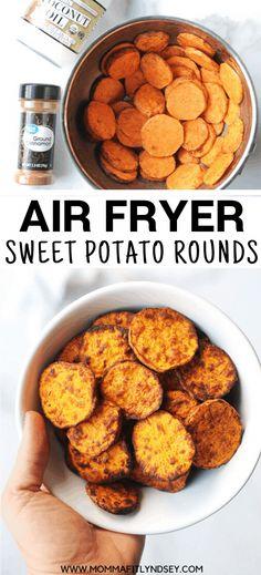 Making Sweet Potato Fries, Crispy Sweet Potato, Sweet Potato Slices, Sweet Potato Chips, Sweet Potato Recipes, Air Fryer Sweet Potato Fries, Air Fryer Recipes Breakfast, Air Fryer Oven Recipes, Air Fryer Dinner Recipes