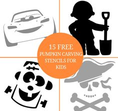 15 Free Pumpkin Carving Stencils for Kids
