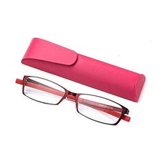 c9420985f9b4 Anti Blue Light Straight Thin Stamped Metal Frame Reading Glasses Readers  +1.5 (red