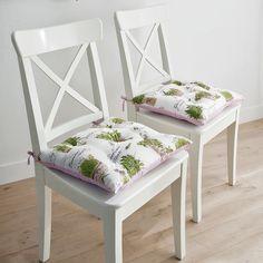 Galettes de chaises bucoliques #deco #maison #interieur #blancheporte