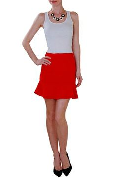 Fitted Trumpet Mini Skirt