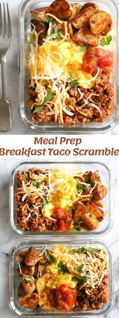 Healthy Breakfast Meal Prep, Breakfast Tacos, Lunch Meal Prep, Meal Prep Bowls, Easy Meal Prep, Healthy Dinner Recipes, Easy Meals, Meal Prep Recipes, Mexican Breakfast