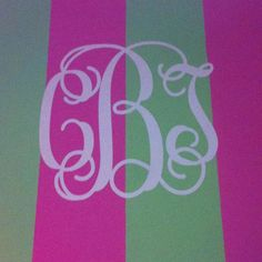Monogrammed wall!