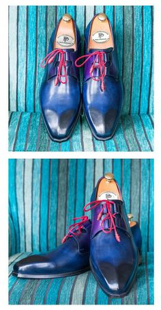 fbb51dde429161 Paul Parkman Ghillie Lacing Blue Dress Shoes for Men Website   www.paulparkman.com. Blauwe Jurk ...