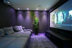 Home Theater Room Design, Movie Theater Rooms, Home Room Design, Dream Home Design, Cinema Room Small, Home Cinema Room, Small Movie Room, Salas Home Theater, Small Home Theaters
