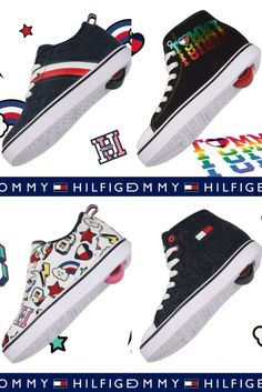 Styles for all! Tommy X Heelys available now for adults and kids 🤩 @tommyhilfiger #TommyXHeelys Shoe Releases, Converse Chuck Taylor, High Top Sneakers, Kids Fashion, Tommy Hilfiger, Collection, Shoes, Style, Swag