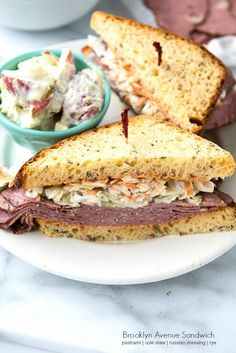 Brooklyn Avenue Sandwich {Pastrami, Cole Slaw, Russian Dressing, Rye}. Straight out of #MadMen! -  BoulderLocavore.com
