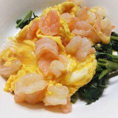 もう一品~ #うち中華 #空芯菜 #えびと卵の炒め #chinesefood #mycooking #instacook #myrecipe #クッキングラム #飲みながら #ながら料理