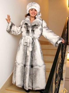 mink fur coat & hat