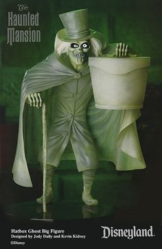 """Disneyland Haunted Mansion """"Hatbox Ghost"""" Big Figure by Miehana, via Flickr    Designed by Jody Daily and Kevin Kidney"""
