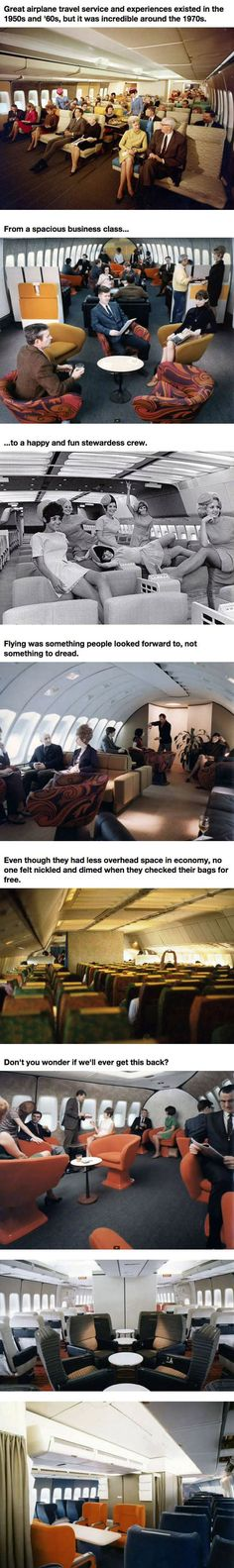 Airplane Travel In The 1970s