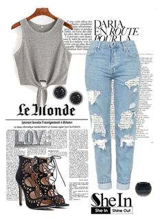 """""""http://www.shein.com/Grey-Tie-Casual-Tank-Top-p-289904-cat-1779.html?utm_source=polyvore&utm_medium=contest&url_from=adelisaade"""" by erna-pozderovic ❤ liked on Polyvore featuring Topshop, Gianfranco Ferré, Privilege and LE VIAN"""