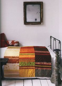 Quilt in autumn colours