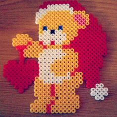 sandylandya@outlook.es  Christmas teddy hama perler beads by lilac_chick