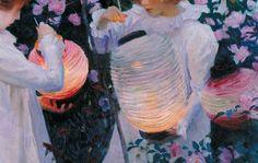 John Singer Sargent,Carnation, Lily, Lily, Rose(detail), ca.1885