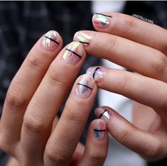 minimal nail design♡