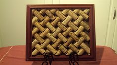Upcycled vin Cork Trivet Lattice