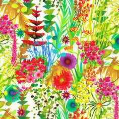 Tresco, a fabulously splashy floral in vibrant tropical colours, from the NEW Spring Summer 2013 Liberty of London collection.
