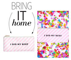 """""""Bring It Home: Ban.do Pencil Case"""" by polyvore-editorial ❤ liked on Polyvore featuring interior, interiors, interior design, home, home decor, interior decorating and bringithome"""