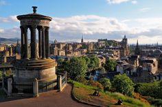 Edinburgh - View from Calton Hill in Edinburgh.
