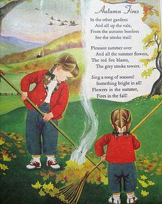 ), 'Autumn Fires' from 'A Child's Garden of Verses (A Little Golden Book)' by Robert Louis Stevenson.