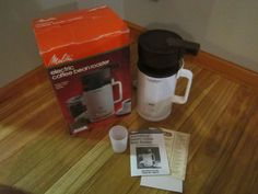 Melitta Electric Coffee Bean Roaster IN BOX Nice Used Condition Comlete Works #Melitta